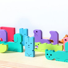 Durable Wooden Game Colorful Tetris Blocks Animal Children Toy Board Game for Child Learning Smart Toy цена 2017