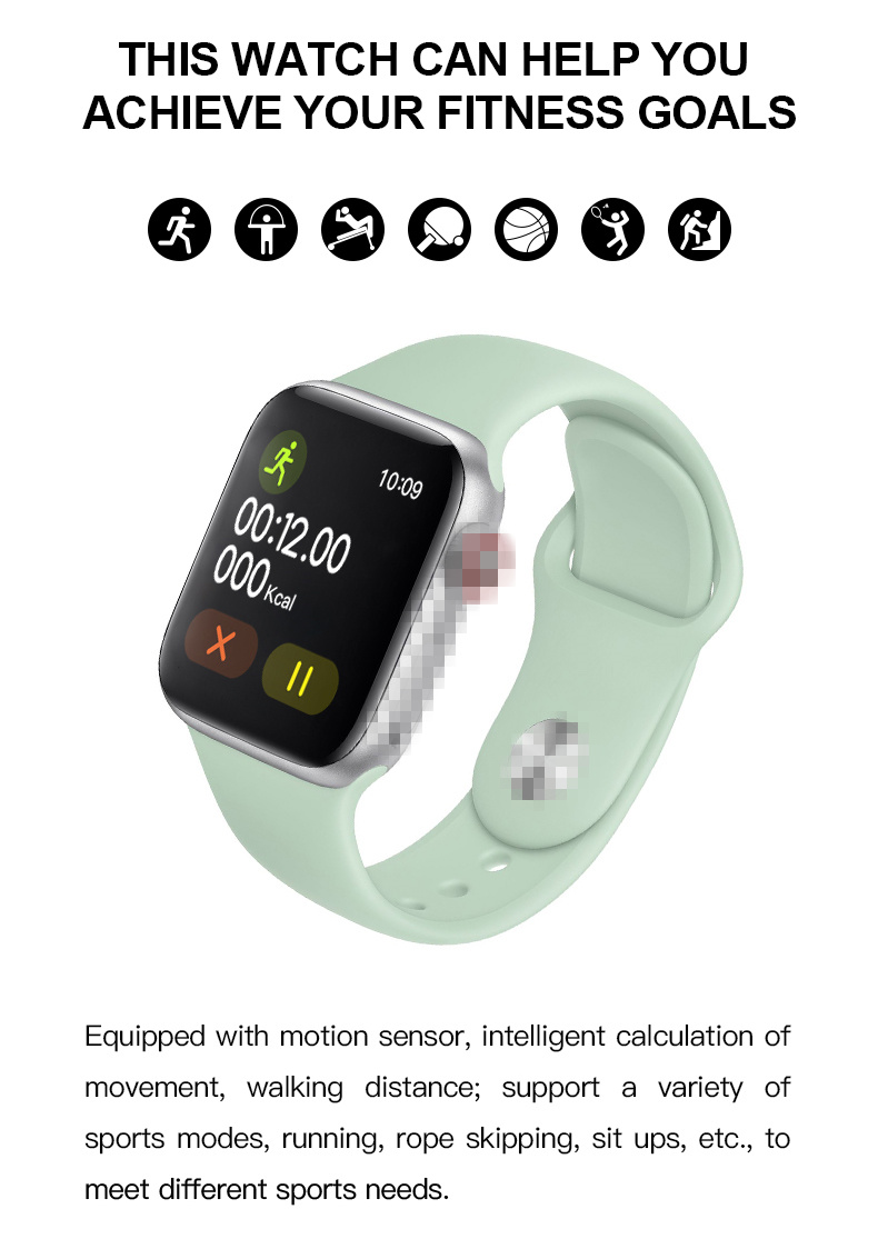 IWO 13 Bluetooth Smart watch Series 5 Smartwatch IWO13 Blood Pressure Fitness Tracker Music Play Clock VS IWO 8 IWO 12 W34