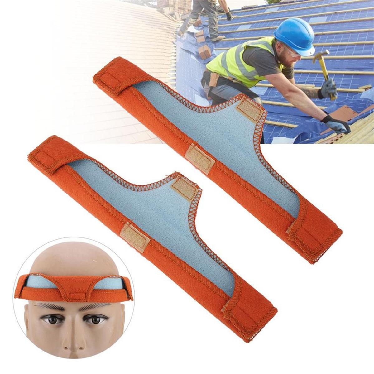 2pcs Helmet Sweatbands With Sponge Foam Super Soft Cotton Water Absorption Sweat Band For Hard Hat Safety Helmet Welding Helmet