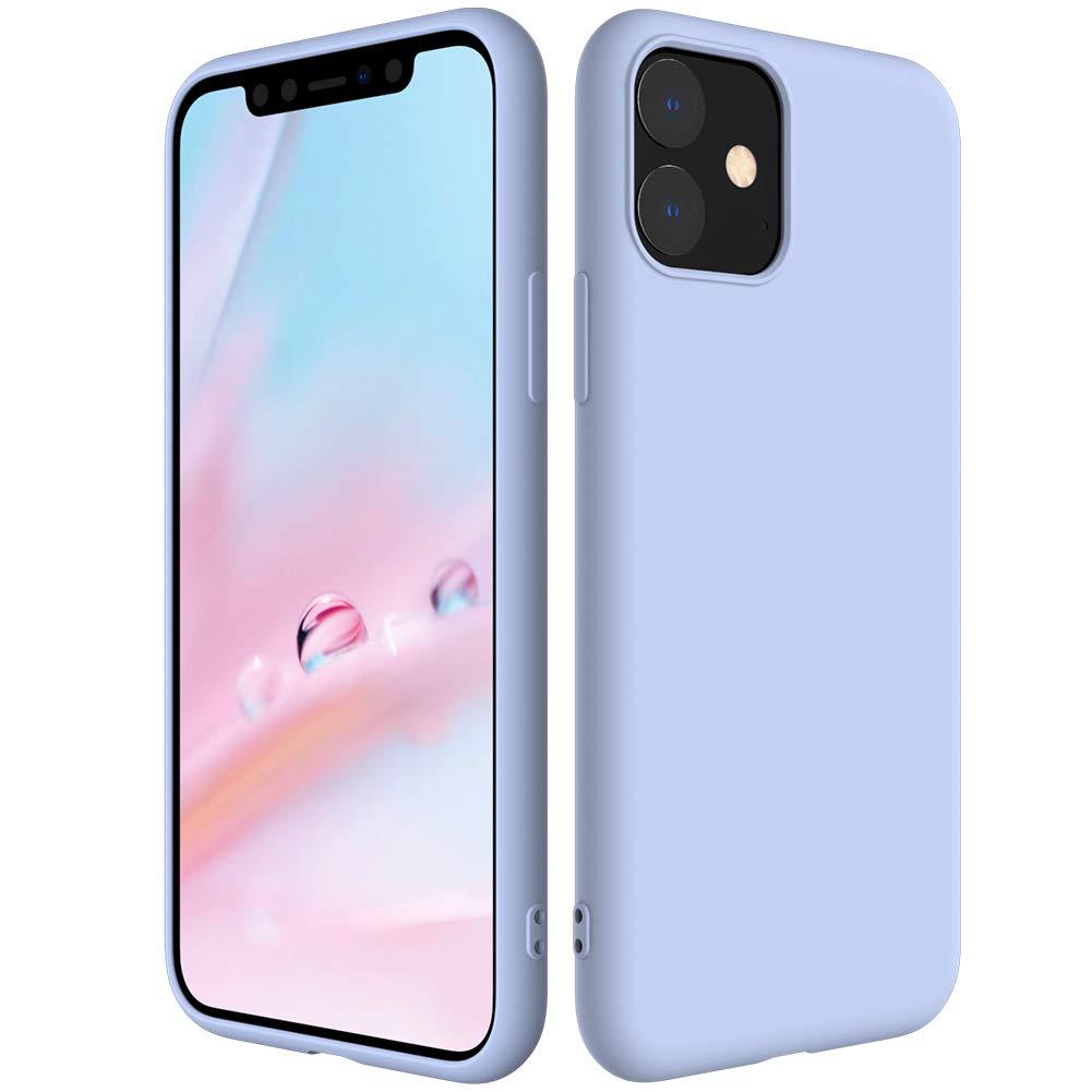 Мягкий Жидкий официальный силиконовый чехол для iPhone 11 Pro Max 8 Plus из микрофибры, Противоударная задняя крышка для iPhone X XR Xs MAX XS - Цвет: Фиолетовый