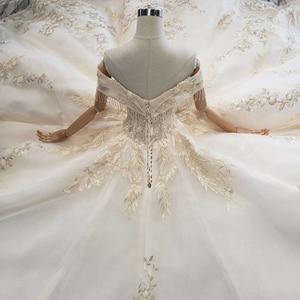 Image 5 - BGW robe de mariée luxueuse tenue de bal, avec Train Royal, faite à la main, bonne qualité, Style moyen orient, à la mode, 2020