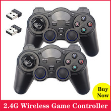 2.4G Wireless Game Controller Joystick Gamepad With USB Adapter For Android TV Box PC Support PS3 Raspberry Pi Retroflag Case