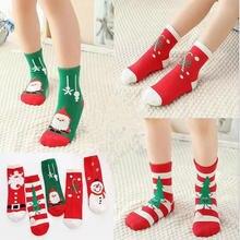 5 пар/лот рождественские носки на осень и зиму хлопковые Новый
