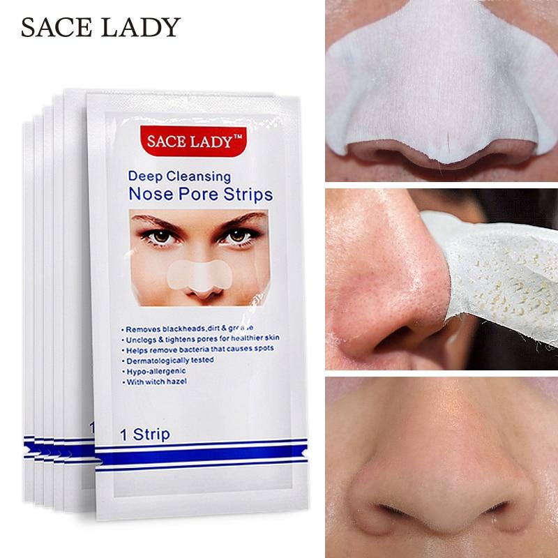 Sace senhora removedor de cravo tira profunda limpa nariz máscara poros tira máscara preta acne tratamento preto limpeza profunda cuidados com a pele