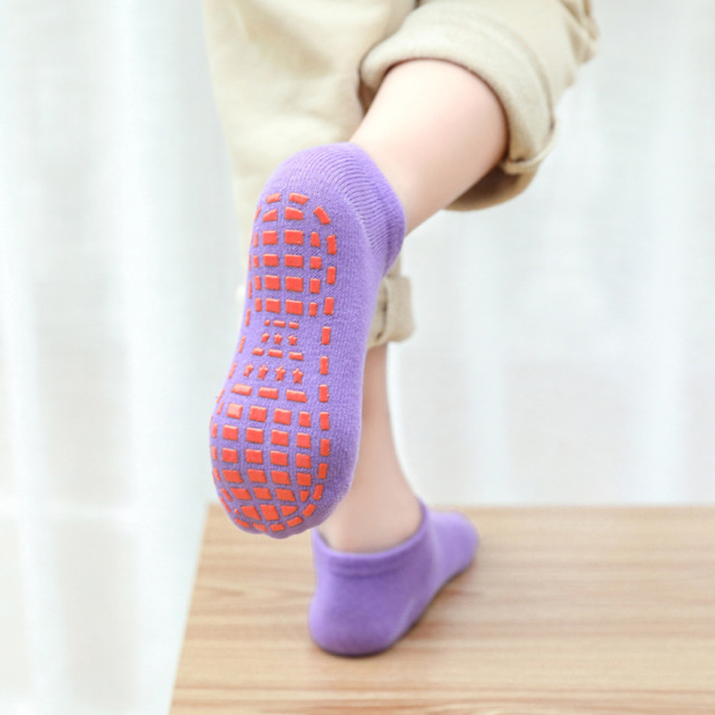 16 Colors Kids Anti-Slip Sock Baby Trampoline Sock Cotton Short Socks Breathable Elasticity Sport Ch
