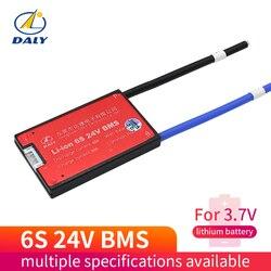 6 s 24 v 15a 20a 30a 40a bms sistema de gestão da bateria pcba 18650 acessórios para 18650 bateria de íon de lítio com equilíbrio
