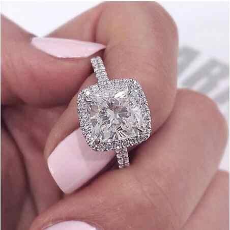 Choucong Bowknot รูปร่างแหวน 925 เงินสเตอร์ลิง AAAA Zircon CZ แหวนหมั้นแหวนเครื่องประดับเจ้าสาว