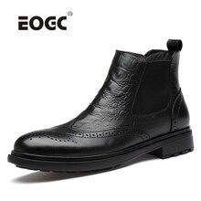 цена на Bullock Style Super Warm Men Boots Natural Leather Plush Ankle Snow Boots Plus Size Outdoor Autumn Winter Shoes Men