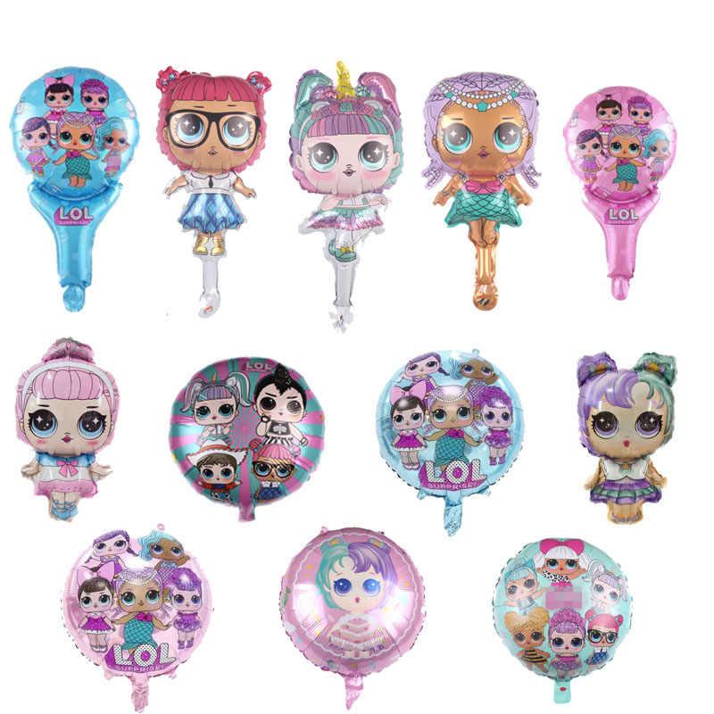 L.O.L. ¡Sorpresa! Figura de Anime LOL, juguetes de globo, globos de aluminio de decoración para habitación de fiesta, juguetes para niñas, regalo de cumpleaños