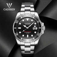 Reloj deportivo de negocios marca CADISEN para hombre, novedad de 2020, fecha automática para hombre, reloj mecánico de lujo, reloj Masculino