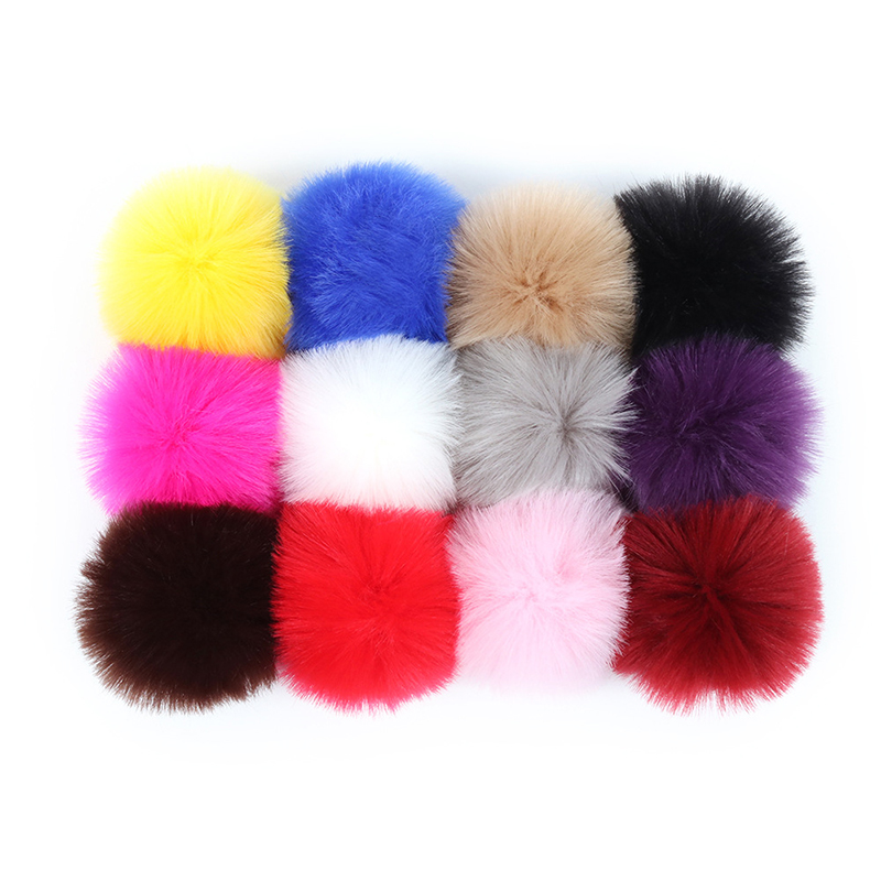 Simple Key Chain Fur Ball Pompon Keychain Pompom Artificial Rabbit Fur Animal Keychains For Woman Car Bag KeyRing