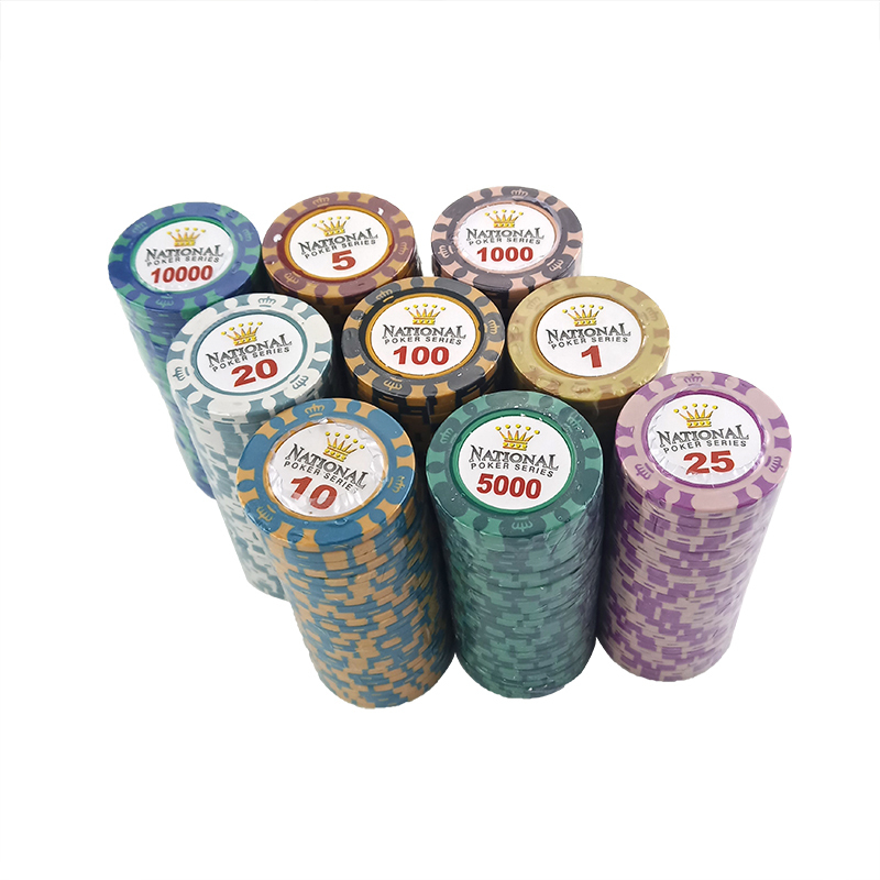 New 1PCS 14g Poker Chips Crown Clay Coin Baccarat Texas Hold'em Poker Set For Crown Game Playing Card Chips 11 Colors Chip
