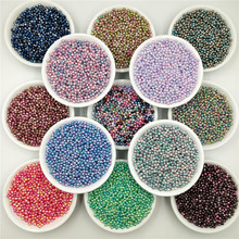 цена на 2000Piece/bag 3mm Rainbow Color Round Imitation  ABS Pearl Beads Have Hole Loose Beads for Jewelry Making DIY Garment Bags Shoes