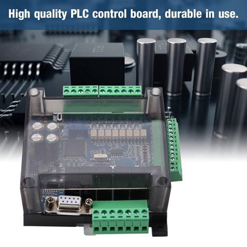 FX3U 14MR 6AD 2DA RS485 8 Input 6 Relay Output 6 Analog Input 2 Analog (0-10V) Output Plc Controller