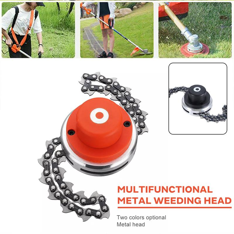 Mower Chain Orange Home Garden Accessories Multifunctional Chain Universal Metal Bushes Cutting Practical Durable Lawn Machine