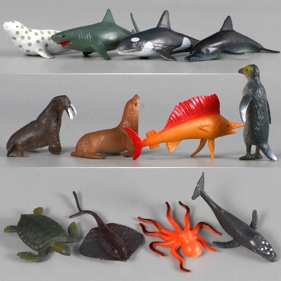 12Pcs Plastic Starfishes Ocean Animal Model Figures Educational Toys Figure