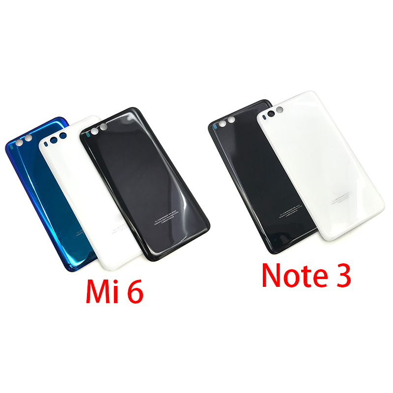 New Back Battery Cover Glass For Xiaomi Mi 6 Mi6 Note 3 Note3 Battery Door Housing Battery Back Cover STICKER Adhesive