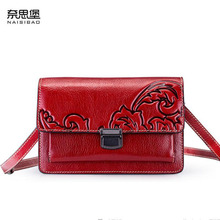 NASIBAO New top Cowhide Embossed fashion luxury handbags women bags designer Genuine Leather bag women shoulder Crossbody bag