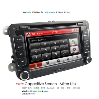 7 Car Multimedia player 2 Din Autoradio For VW/Golf 5/Passat b6/SEAT Leon/Tiguan/Skoda/Octavia/POLO GPS Car Radio SWC RDS FM/AM image