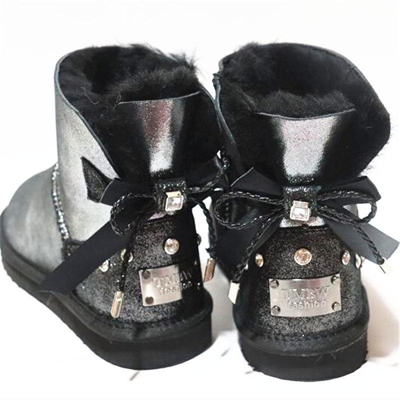 Beautiful New Shoes Women 2020 Women's Winter Classic Woman Snow Boots Genuine Sheepskin Warm Boots High Quality Boots Shoes