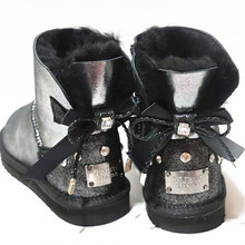 New Shoes Snow-Boots Sheepskin Classic Winter Woman Beautiful High-Quality Genuine