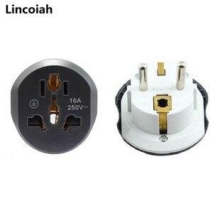 16A Universal EU RU DE KR ES FR Travel Adapter Euro Converter UK US AU to EU AC Power Socket Plug Travel Charger Converter 250V