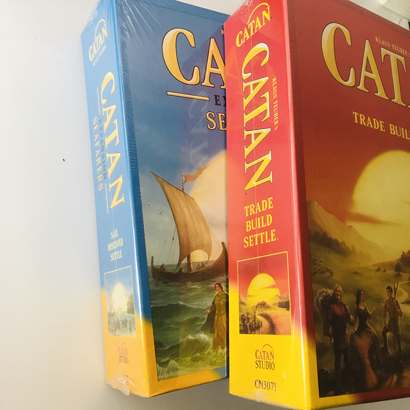Catan 5th Edition With 5-6 Player Extension Game CATAN And SEAFARERS EXPANSION And 5-6 Player