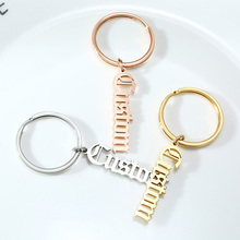 Custom Names Key Chains for Women Men Special Personalize Stainless Steel Gifts Jewelry