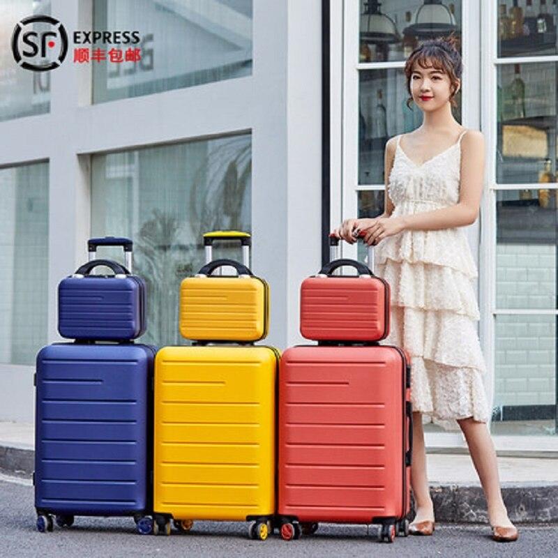 LeTrend Farbe streifen muster Roll Gepäck Spinner 24 zoll Koffer Räder 20 inch Frauen Tragen auf Trolley Reisetasche Stamm - 2