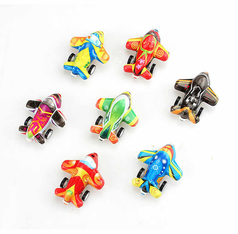 2019 DIY Pull Back Plane Speelgoed Voor Kinderen Vliegtuig Model Party Kids Toys Flying Zweefvliegtuig Vliegtuig Speelgoed Willekeurige Kleur Diecasts speelgoed