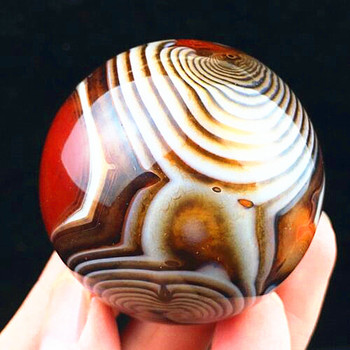 2.2lb  Natural quartz crystal lace agate sphere reiki divination healing. Carving. Square pointed ball
