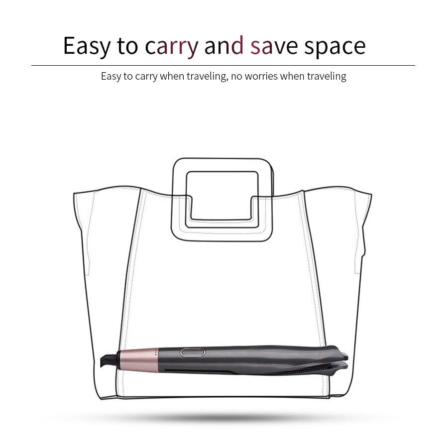 Fer à friser automatique bigoudi LED affichage numérique de la température professionnel titane cheveux lisseur plaque peigne à chaud - 4