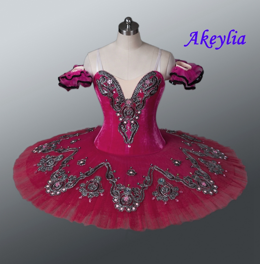 Image 4 - Professional Tutu Red Don Quxote Burgundy Girls Nutracker Pancake Tutu Ballet stage Costume For Dancers Competition EsmeraldaBallet   -