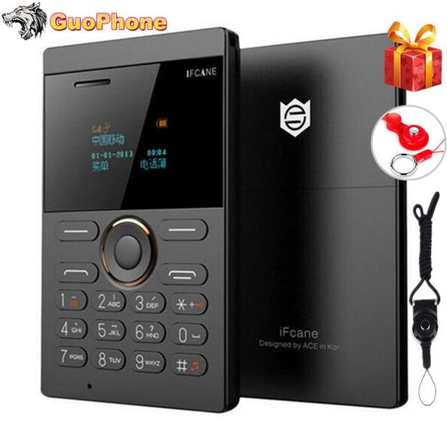 Ultra Sottile Per Bambini Cellulare ifcane E1 Del Telefono Delle Cellule Mini Carta Dello Studente Tasca Basso di Radiazione Del Telefono Mobile