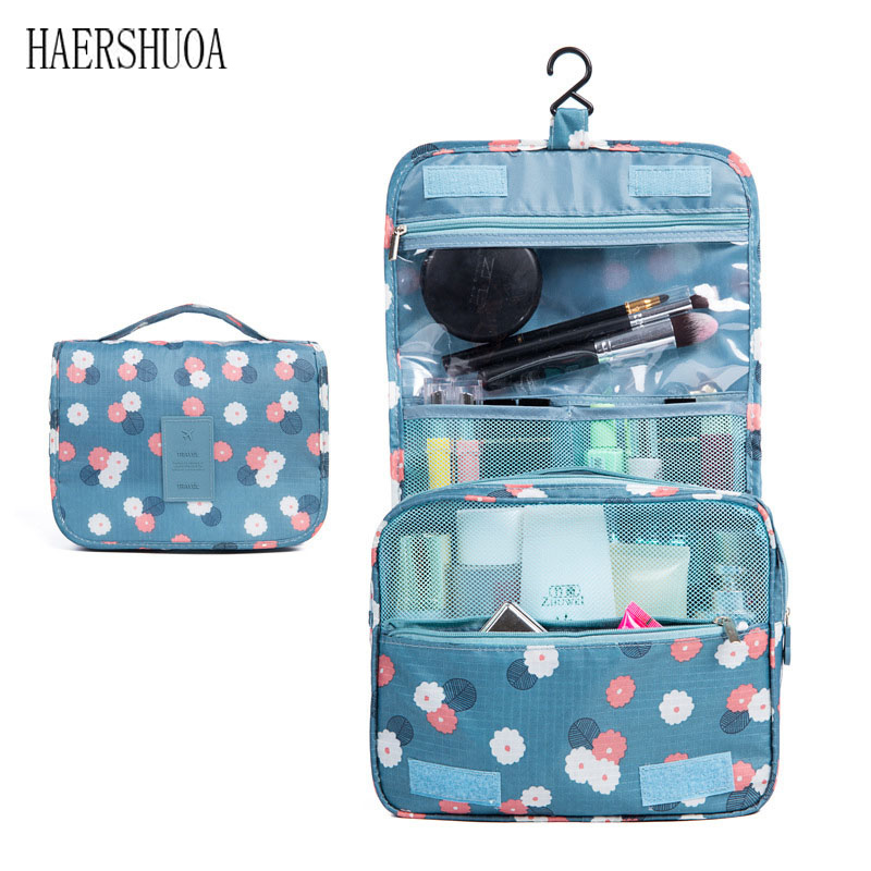 Quality and convenient travel hook cosmetic bag portable protective cover makeup storage bag ladies