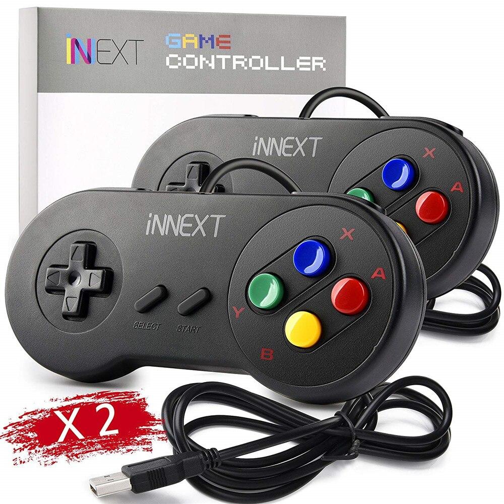 2pcs lot USB Controller Gamepad 2pcs Super Game Controller SNES USB Classic Gamepad Game joystick for PC MAC Games