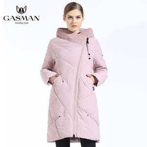 Image 3 - GASMAN 2019 New Winter Collection Fashion Thick Women Winter Bio Down Jackets Hooded Women Parkas Coats Brand Plus Size 6XL 702
