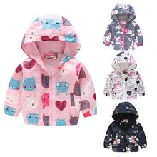 Girl Cute Fashion Zipper Top Spring Autumn Thin Style with Hood Baby Jacket