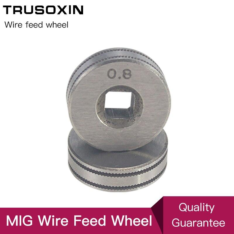 Wire Feeder Wheel Roller 0.8mm 1.0mm 1.2mm Double Size MIG Welder Welding Wire Feeding Machine