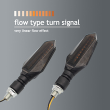 Motorcycle accessory turn signal LED light flashing universal version of the bendable front and rear stop