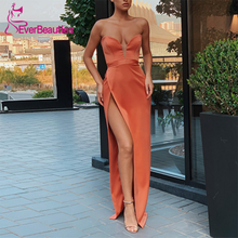 Elegant Evening Dress Sweetheart Strapless Party Gown Long Side Split 2020 Formal Party Abendkleider Sexy Vestido De Noite