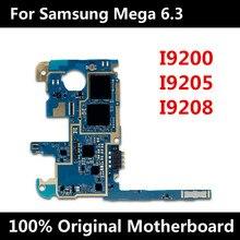 Placa base desbloqueada de fábrica para Samsung Mega 6,3, i9200, I9205, I9208, placa base Original con Chips, IMEI, Android OS, placa lógica