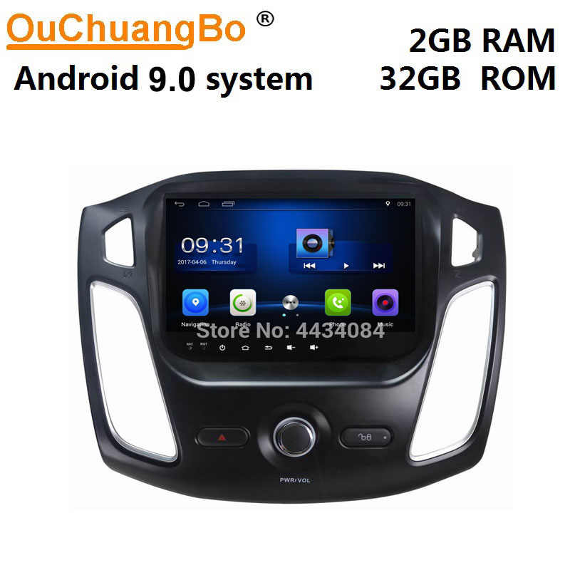 Ouchuangbo Car Audio Stereo Gps Navigatie Voor Ford Focus 2011-2015 Ondersteuning Usb Swc Wifi Dual Zone 4 Core android 9.0 Os