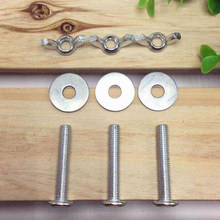 Retaining Screw Fitting Screws For Bird Nesting Lock Anti-bite Ring House Cages Parrot Breeding Box(China)