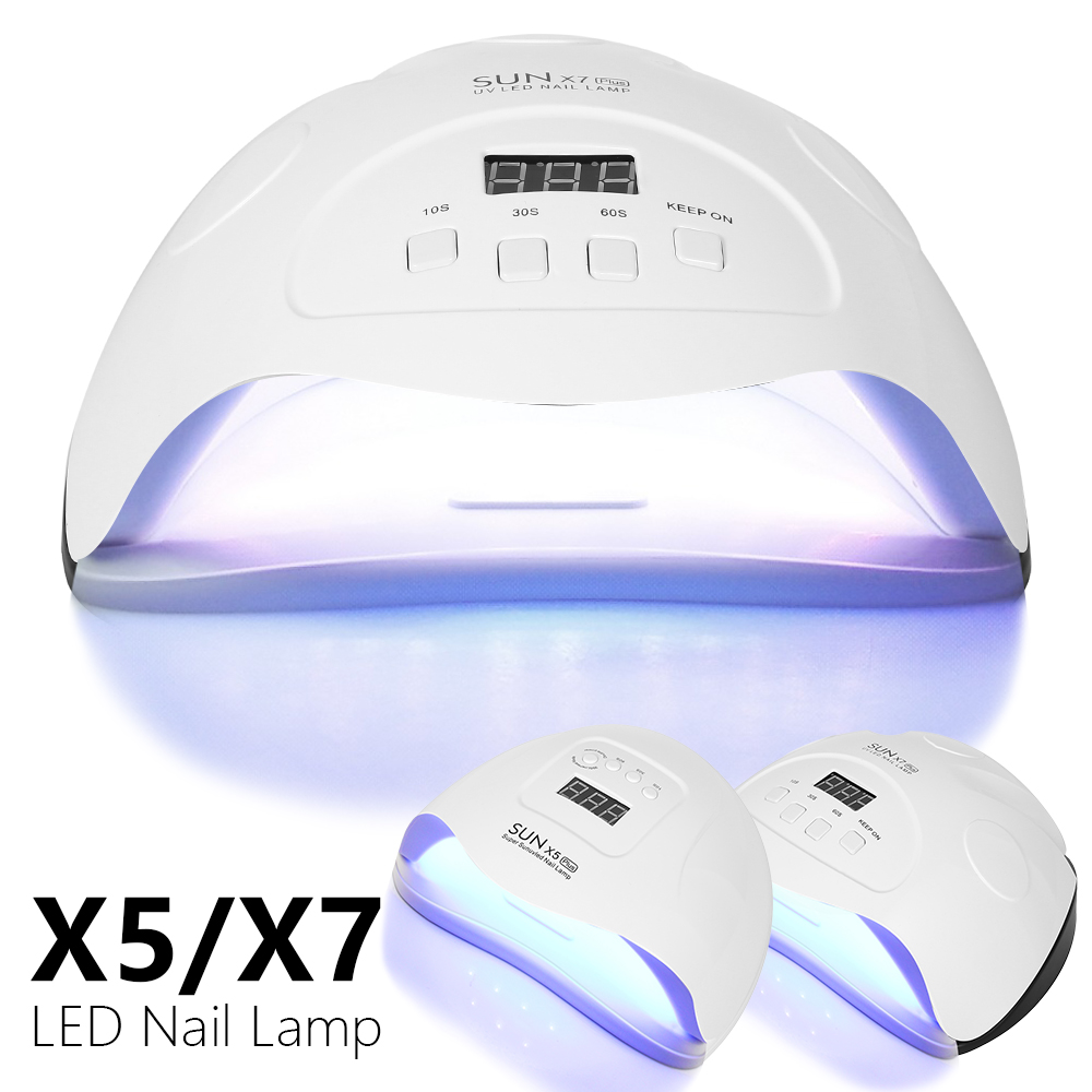 SUN X5/X7 Plus UV LED Lamp Nail Dryer Quick Dry Lamp For Nails Manicure Tools with Bottom Timer LCD Display Nail Art Lamp