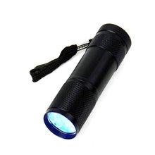 Мини 9LED УФ-вспышка светильник ультрафиолетовых лучей маркер с невидимыми чернилами фонарь детектор светильник для проверки счета денег