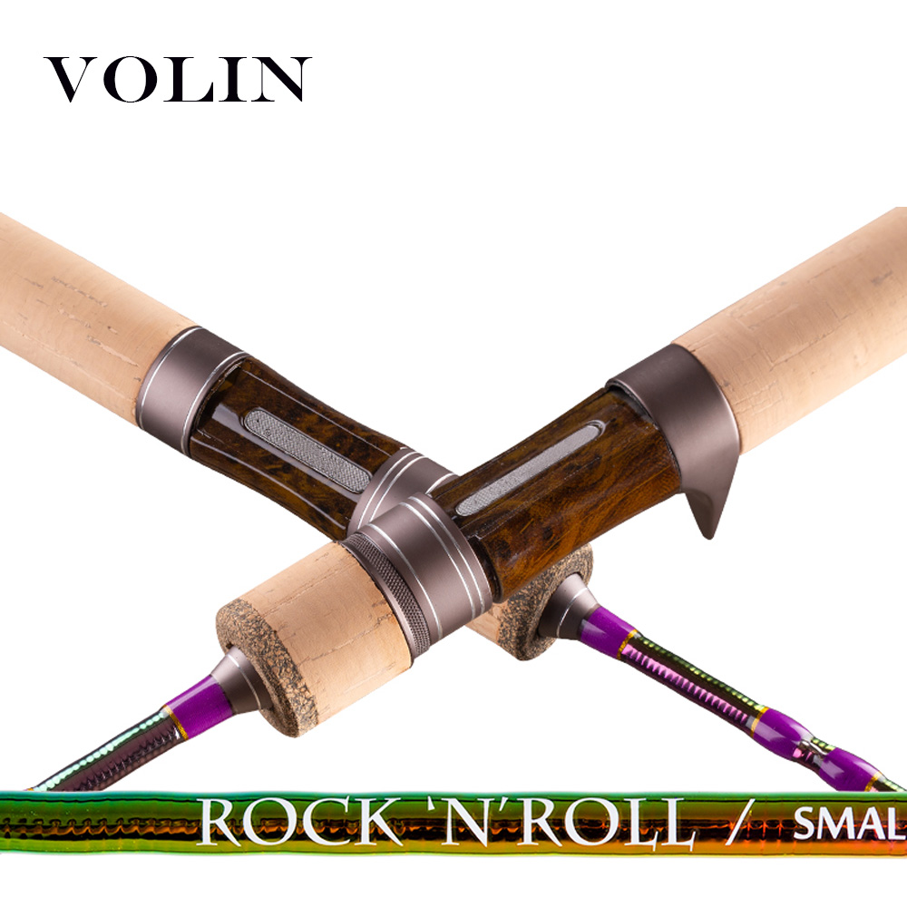 Volin NEW Spinning UL Trout Fishing Rod 1.53m 1.68m Baitcasting Rod Solid Top Tip Carbon Rockfishing Rod Travel Fishing  Pole
