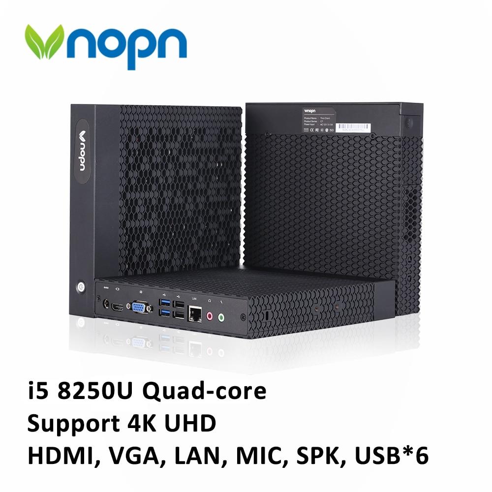 New Intel Core I5 8250U Quad-core Mini PC With FAN DDR4 RAM Desktop Computer 4K HDMI VGA 6*USB WiFi I3 5005U Office Home Nettops