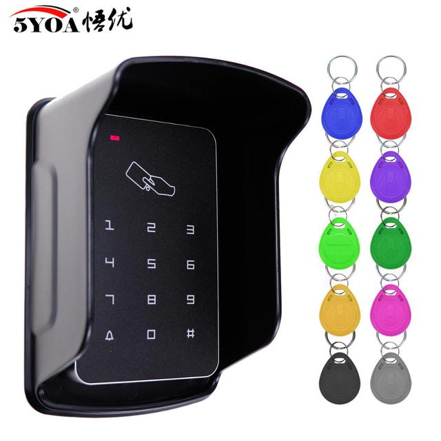 Standalone Access Controller RFID Access Control Keypad Waterproof Rainproof Cover digital panel Card Reader Door Lock System