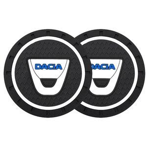 1/2/4 шт., автомобильный нескользящий коврик для чашки Dacia Duster Logan Sandero 2 Mcv Sandero